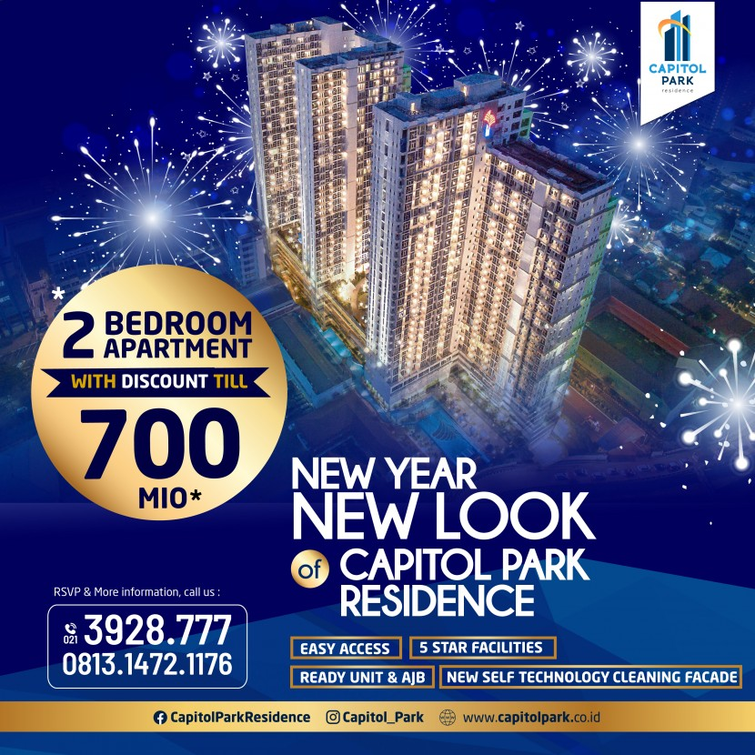 Capitol park residence salemba jakarta pusat - New Year Promo - Jan 2021