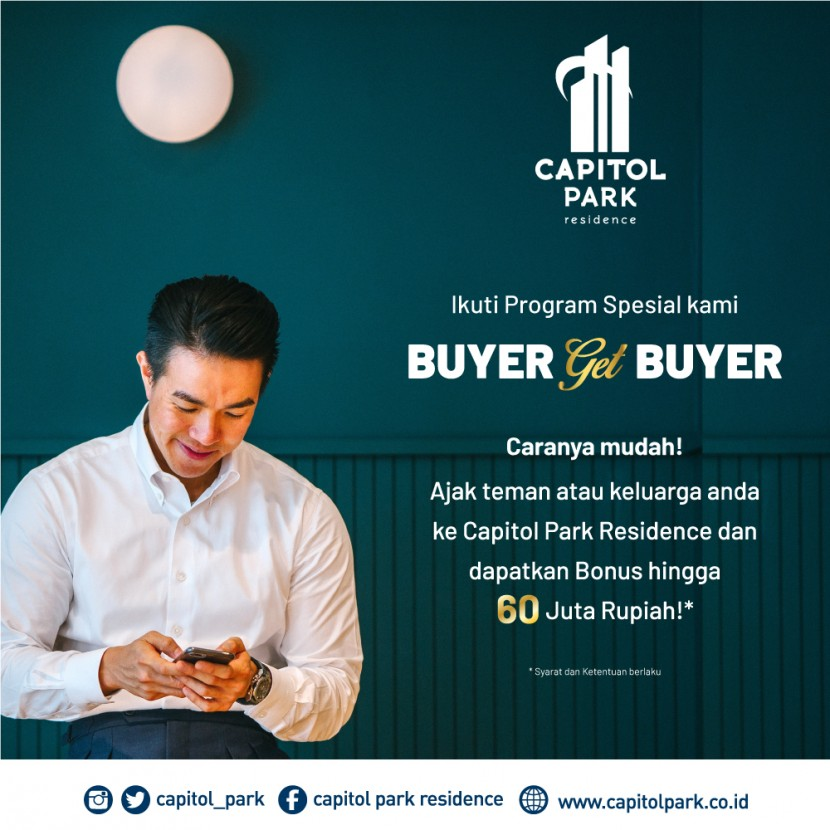 Capitol park residence salemba jakarta pusat - Buyer Get Buyer - Oct 2020