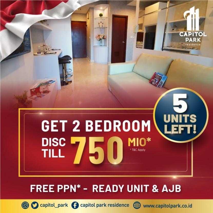 Capitol park residence salemba jakarta pusat - DISC TILL 750 MIO FOR 2 BEDROOM - Aug 2021