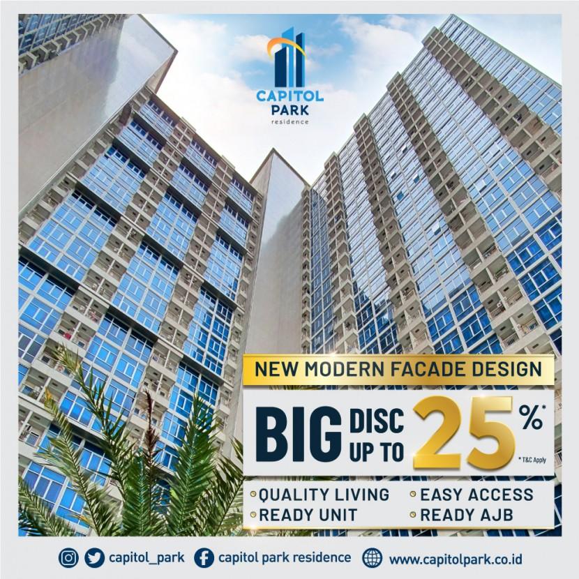 Capitol park residence salemba jakarta pusat - New Modern Facade Design & Big Disc - Nov 2020