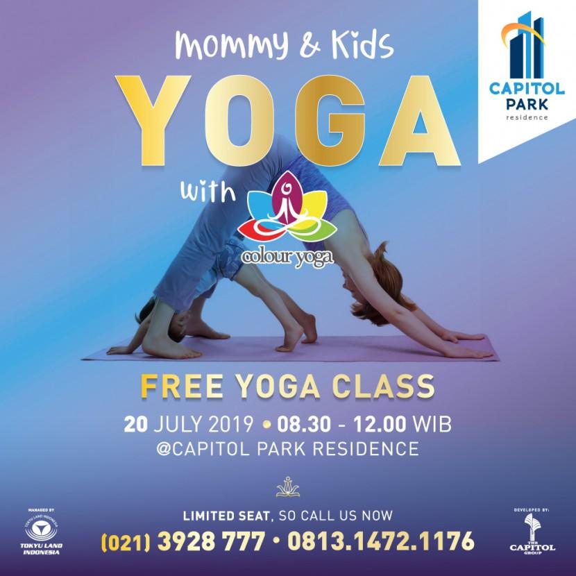 Capitol park residence salemba jakarta pusat - Free Yoga Class - July 2019