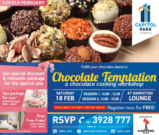 Capitol park residence salemba jakarta pusat news - CHOCOLATE COOKING WORKSHOP