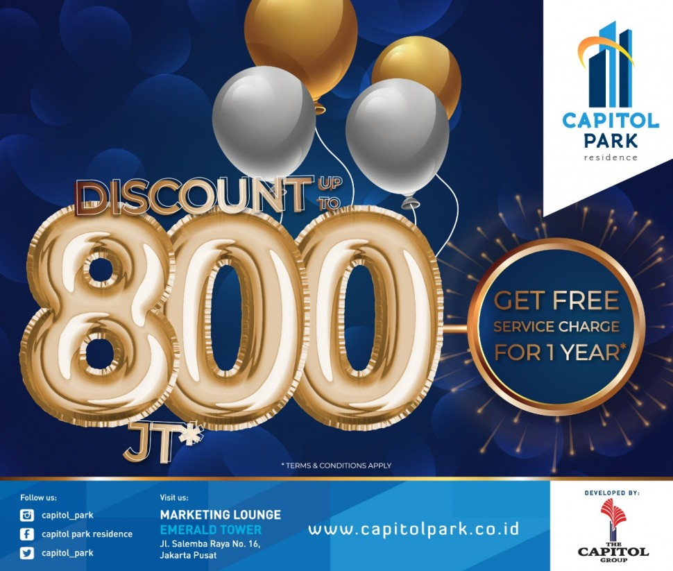 Capitol park residence salemba jakarta pusat - Special Gift - Mar 2019