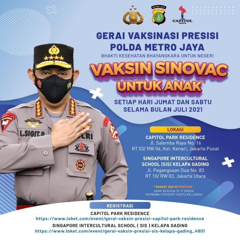 Capitol park residence salemba jakarta pusat - Gerai Vaksin Presisi Polda Metro Jaya (Untuk Anak) - GRATIS