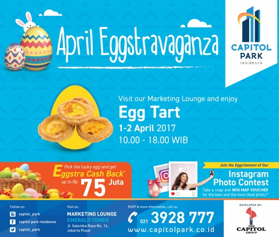 Capitol park residence salemba jakarta pusat - April Eggstravanga