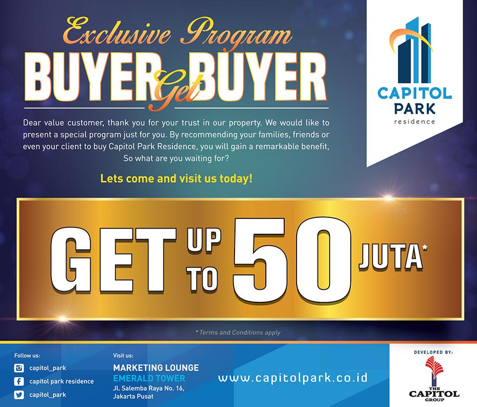 Capitol park residence salemba jakarta pusat news - Exclusive Program - Buyer Get Buyer January
