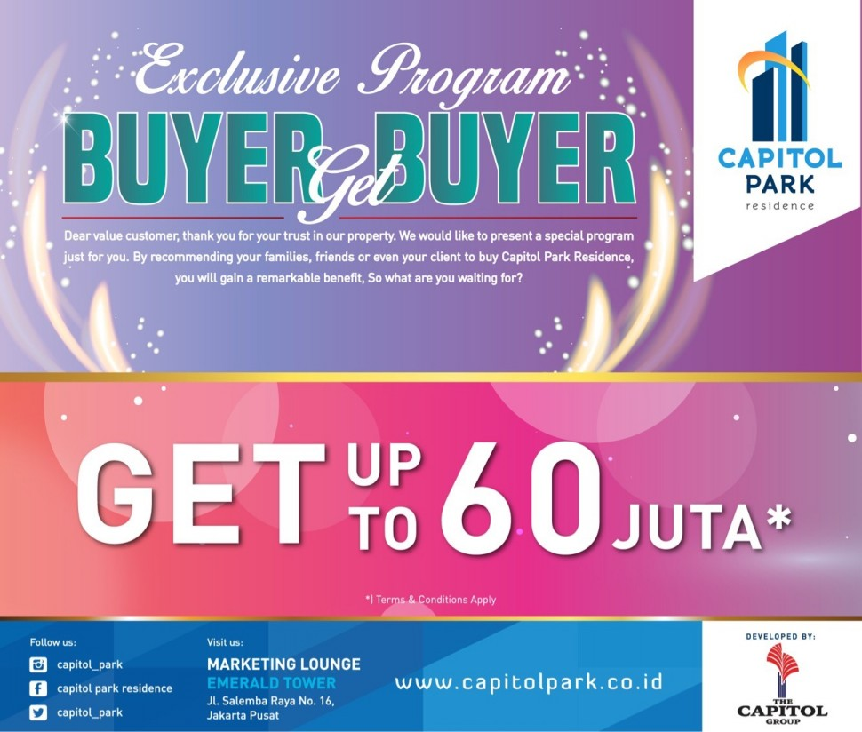 Capitol park residence salemba jakarta pusat - Buyer Get Buyer - May 2018