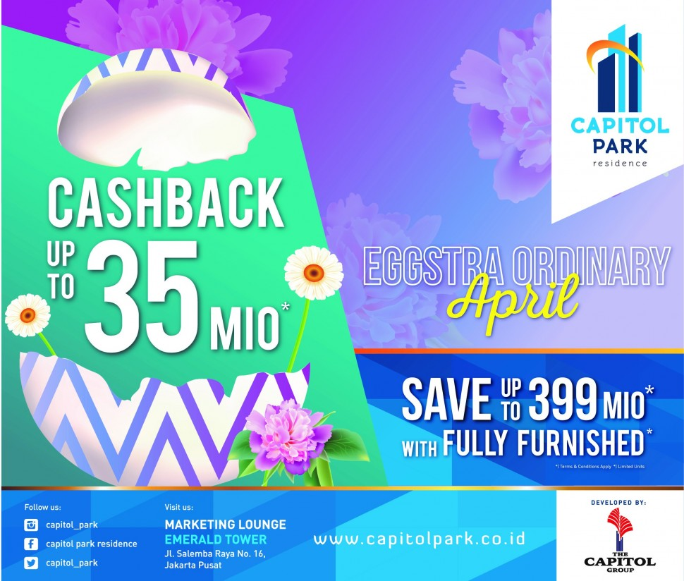 Capitol park residence salemba jakarta pusat - Eggstra Ordinary - April
