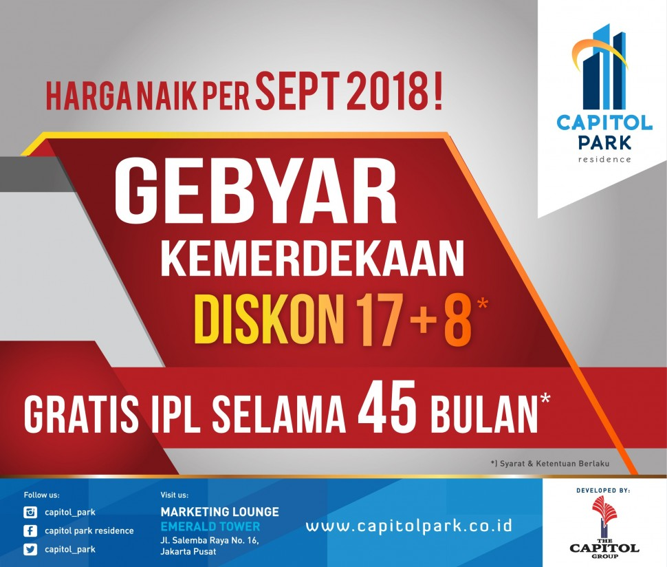 Capitol park residence salemba jakarta pusat - Gebyar Merdeka Aug 2018