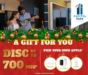 Capitol park residence terjangkau siap huni - A Gift For You Dec 2018
