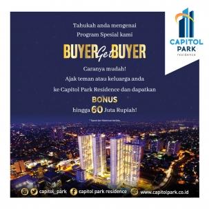 Capitol park residence terjangkau siap huni - Buyer Get Buyer - Nov 2019