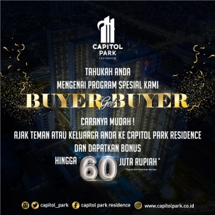 Capitol park residence terjangkau siap huni - Buyer Get Buyer - Sept 2019
