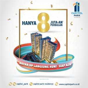 Capitol park residence terjangkau siap huni - March's Promo - March 2020