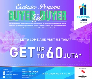 Capitol Park News - EXCLUSIVE PROGRAM - BUYER GET BUYER APRIL