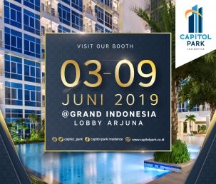 Capitol park residence terjangkau siap huni - Our Booth - June 2019
