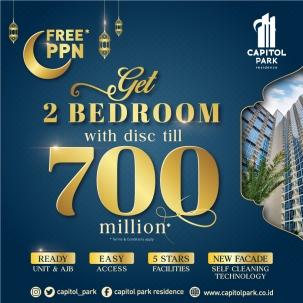 Capitol park residence terjangkau siap huni - Free PPN - May 2021