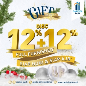 Capitol park residence terjangkau siap huni - Gift For You - Dec 2019