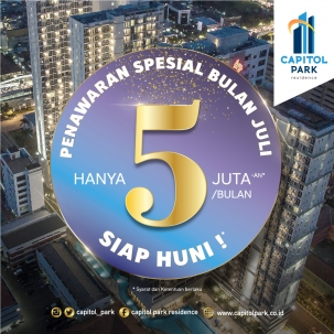 Capitol park residence terjangkau siap huni - Exclusive Deals - July 2019
