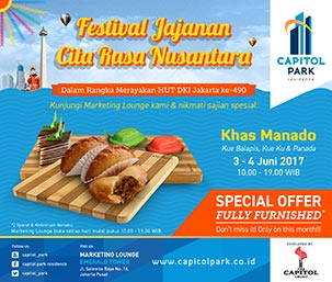 Capitol park residence salemba jakarta pusat news - Festival Jajanan Citra Rasa Nusantara - Khas Manado