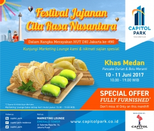 Capitol park residence salemba jakarta pusat news - Festival Jajanan Citra Rasa Nusantara - Khas Medan
