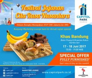 Capitol park residence salemba jakarta pusat news - Festival Jajanan Citra Rasa Nusantara - Khas Bandung