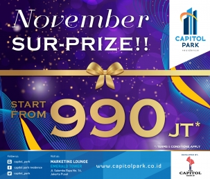 Capitol park residence terjangkau siap huni - November Sur-Prize!!