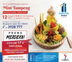 Capitol Park News - Mini Tumpeng - Professional Workshop
