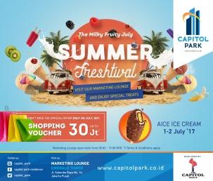 Capitol park residence salemba jakarta pusat news - Summer Freshtival - AICE Ice Cream