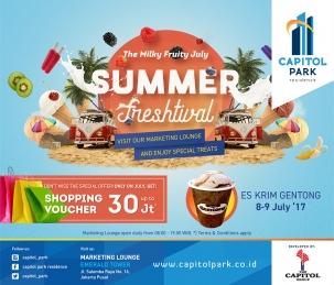 Capitol park residence salemba jakarta pusat news - Summer Freshtival - Es Krim Gentong
