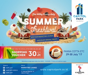 Capitol Park News - Summer Freshtival - Panna Cotta