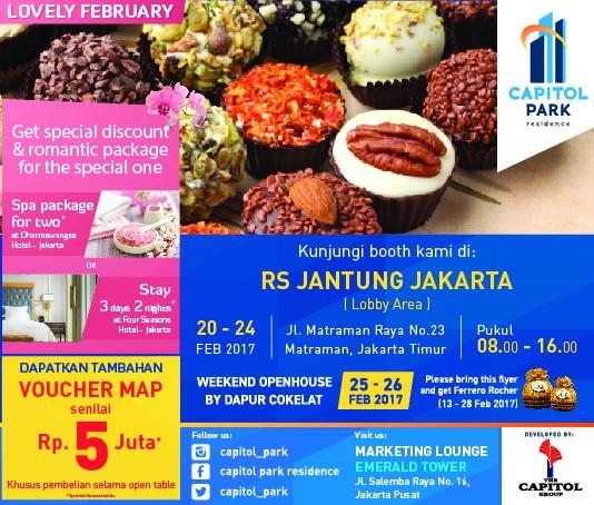 Capitol park residence salemba jakarta pusat news - Open Table Capitol Park Residence di lobby utama RS Jantung Jakarta.