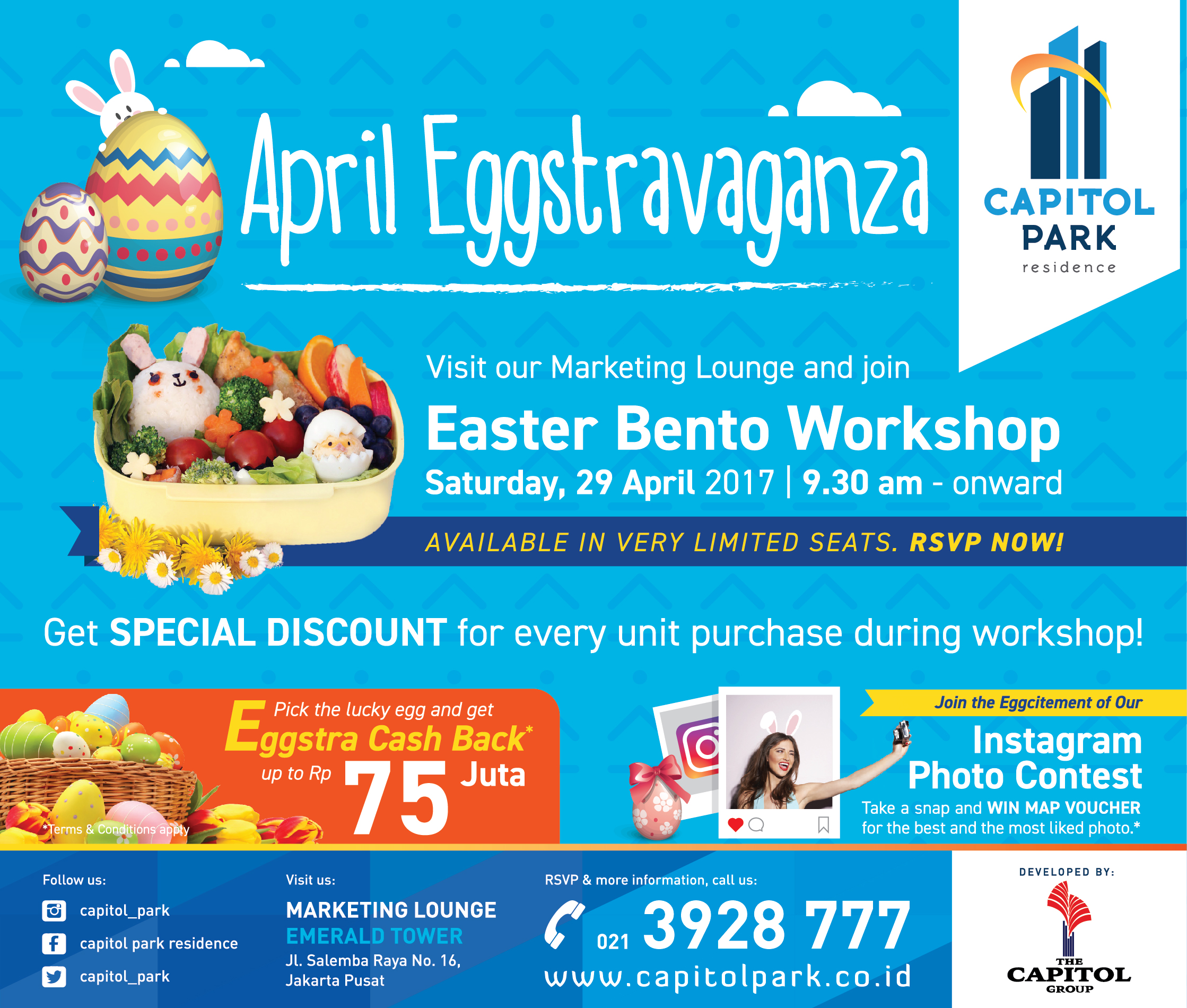 Capitol Park News - April Eggstravanga - Easter Bento Workshop
