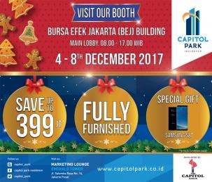 Capitol park residence terjangkau siap huni - Visit Our Booth At Bursa Efek Jakarta