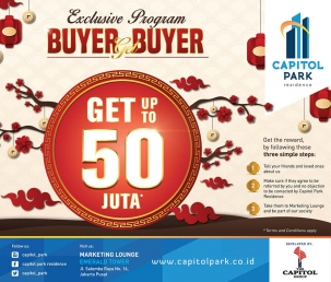 Capitol park residence salemba jakarta pusat news - Exclusive Program - Buyer Get Buyer Februari