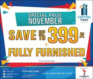 Capitol park residence terjangkau siap huni - Special Prize November