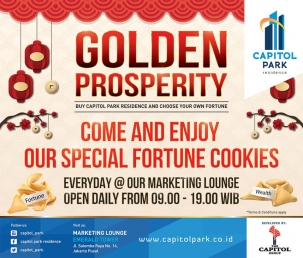 Capitol park residence terjangkau siap huni - Come and Enjoy Our Special Fortune Cookies