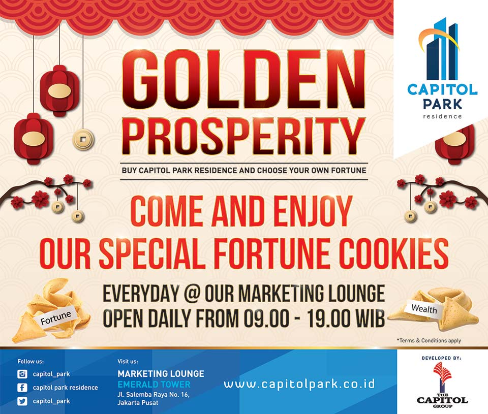 Capitol park residence salemba jakarta pusat - Come and Enjoy Our Special Fortune Cookies