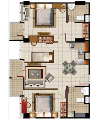 Sewa apartemen Maps BCAT