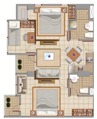 Sewa apartemen Maps BCCT