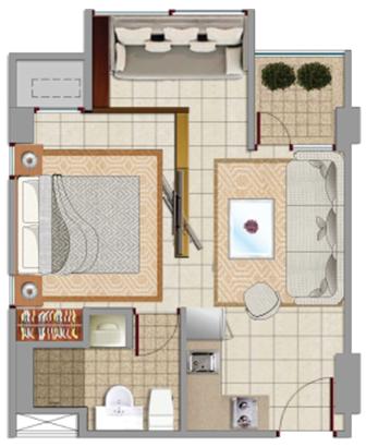 Sewa apartemen Maps BSCT