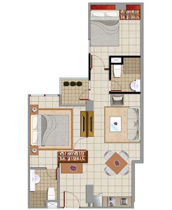 Sewa apartemen Denah Sappire