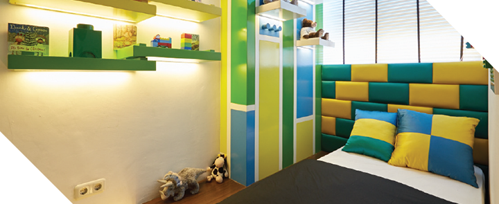 Capitol park residence tower salemba jakarta pusat- Emerald Colorfull Bedroom