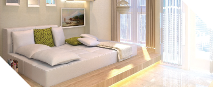 Capitol park residence tower salemba jakarta pusat- Emerald White Bedrooms